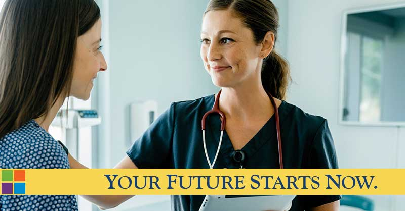 Your future starts now - nurse seeing patient